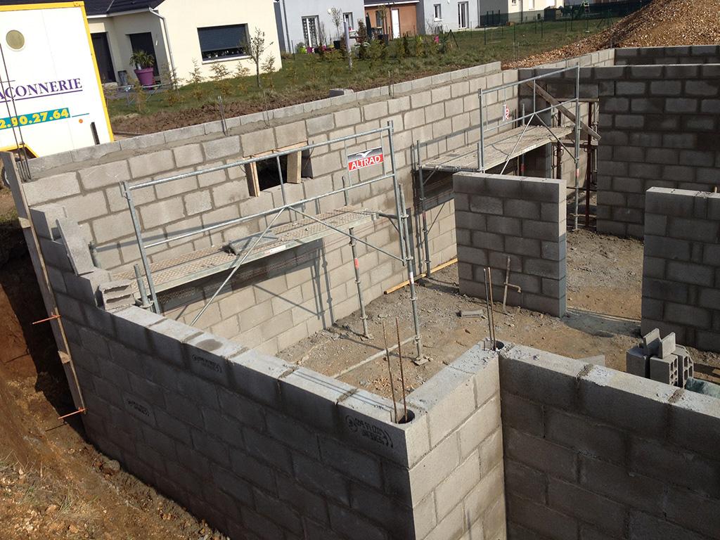 Construction d'un pavillon – Élévation du sous-sol